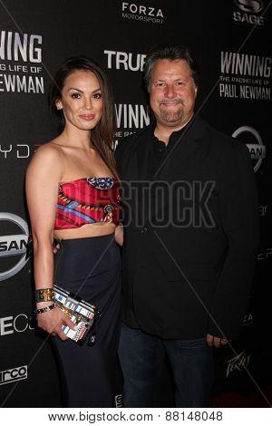 LOS ANGELES - FEB 16:  Jodi Ann Paterson, Michael Andretti at the