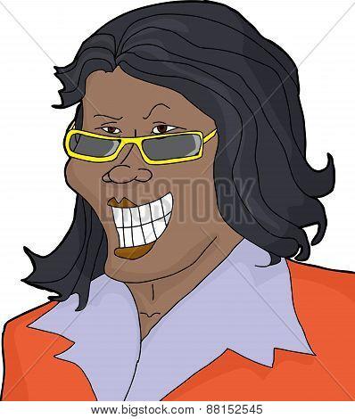 Smirking Businesswoman