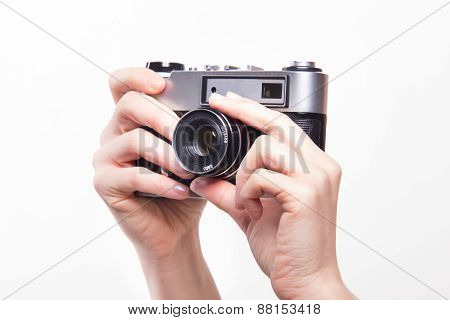 Taking Photos Using 35Mm Classic Camera