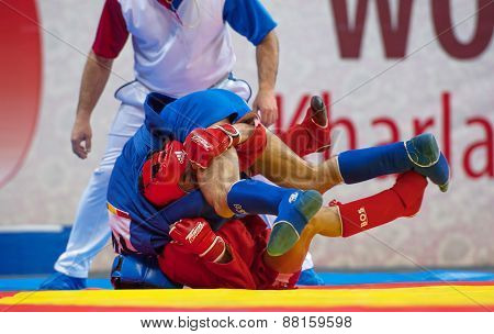 Kanzhanov B. (red) And  Umbayev N. (blue)