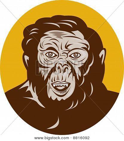 Prehistoric man head