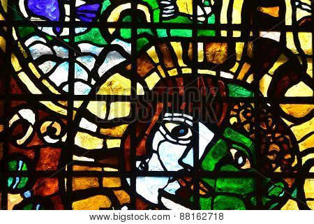 stained glass  man's face