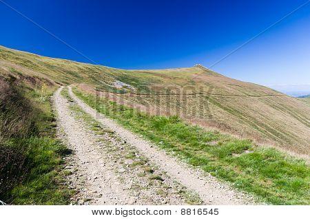 Mountain Road In Ossogovo Mountain Near Kyustendil, Bulgaria