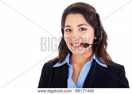 Female Call Center Operator