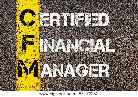 Business Acronym CFM as Certified Financial Manager poster