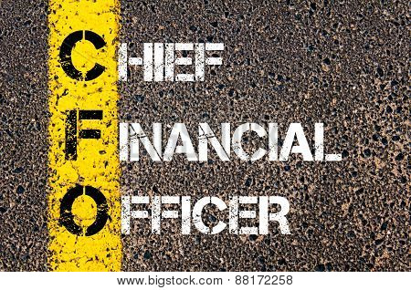 Business Acronym Cfo - Chief Financial Officer