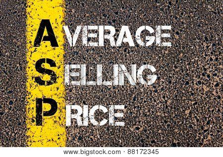 Business Acronym Asp - Average Selling Price