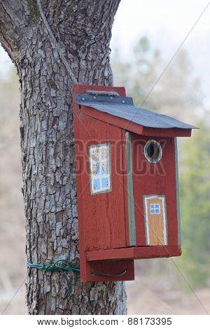 Painted Bird House