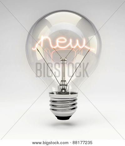 Concept Light Bulb - New