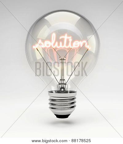 Concept Light Bulb - Solution