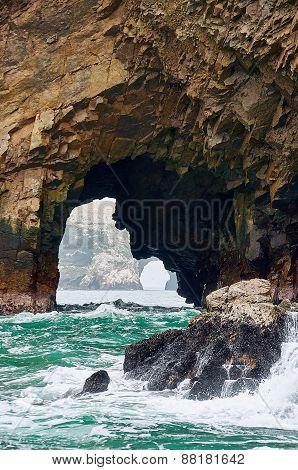 Islas Ballestas rocky formation