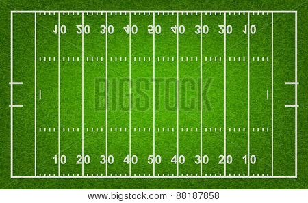 American Football Field. Vector Illustration.