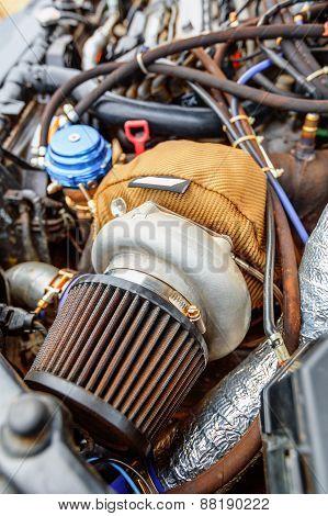 Turbine Of Charged Car Engine