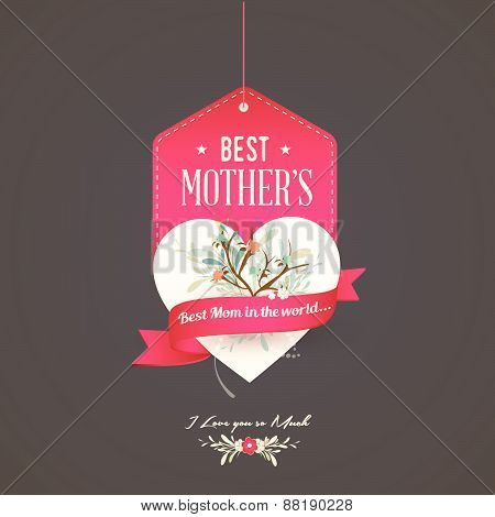 Happy Mothers's Day Pink Label
