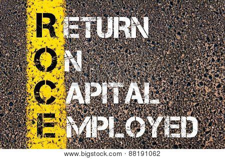 Business Acronym Roce - Return On Capital Employed