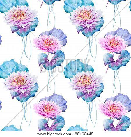 Lotus flowers pattern
