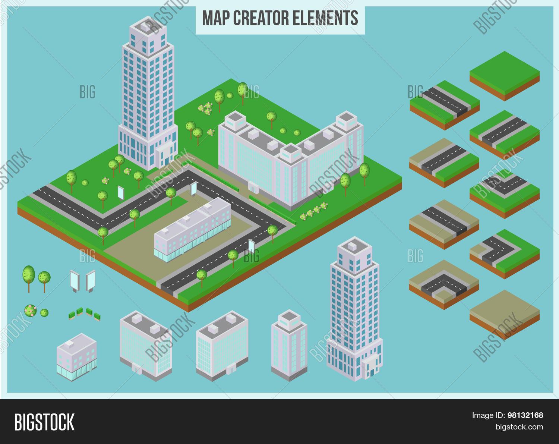 Isometric Map Creator Vector & Photo (Free Trial)   Bigstock