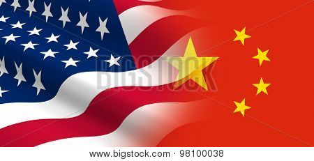 The concept of political relationships the United States with China.
