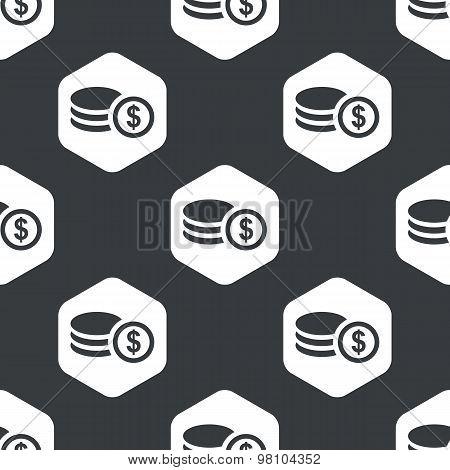 Black hexagon dollar rouleau pattern