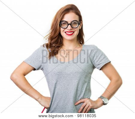 Dorky Girl In The Reading Glasses