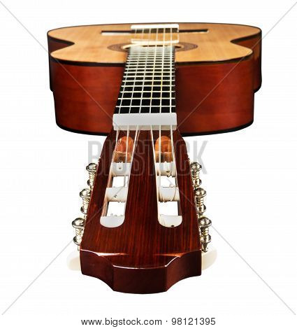 Guitar From Side Of Head And Fretboard