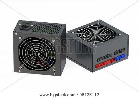 Two Black Computer Power Supply Units