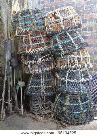 Stack Of Fishing Creels