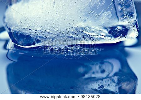 Water Reflection Of Ice