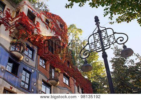 Detail Of The Facade Hundertwasserhaus, Vienna