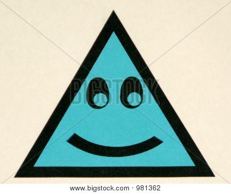 Happy Blue Triangle