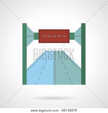 Highway billboard flat vector icon