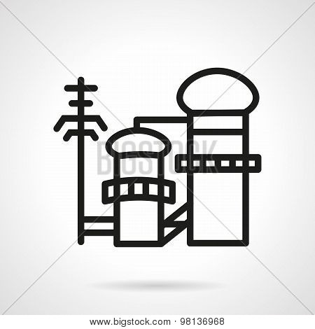 Pulp and paper factory vector icon