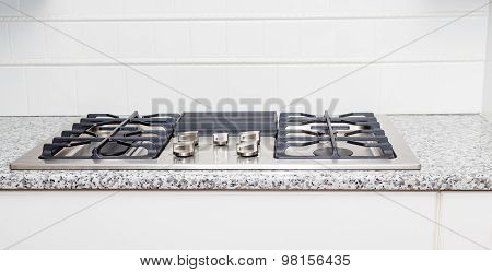 Gas Cooktop On Granite Counter