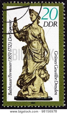 Postage Stamp Germany 1984 Summer, By Balthasar Permoser