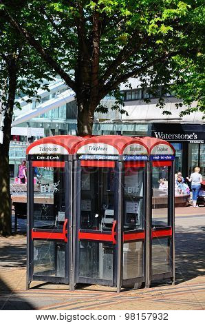 Telephone Boxes, Coventry.