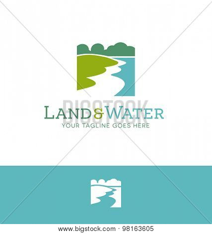 logo design for land and water related business or organization