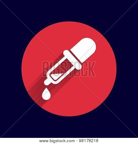 dropper vector icon picker tube chemistry pipet