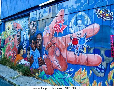 Balmy Alley Murals In San Francisco