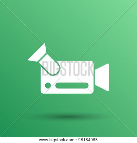 icon video camera isolated footage square camcorder