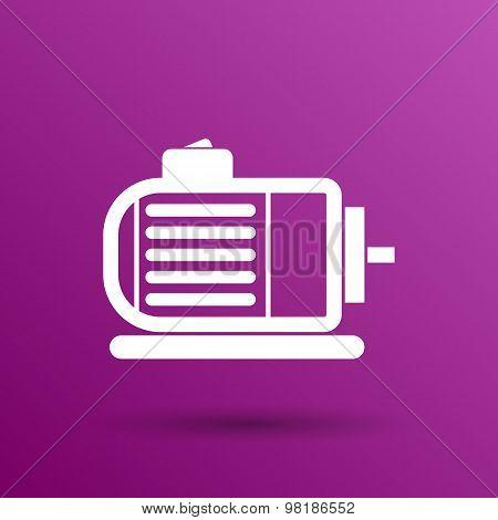Electric motor icon vector engine symbol power
