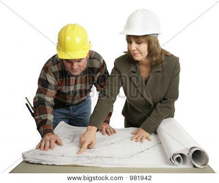 Engineer Explaining The Job