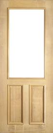 Empty wood door