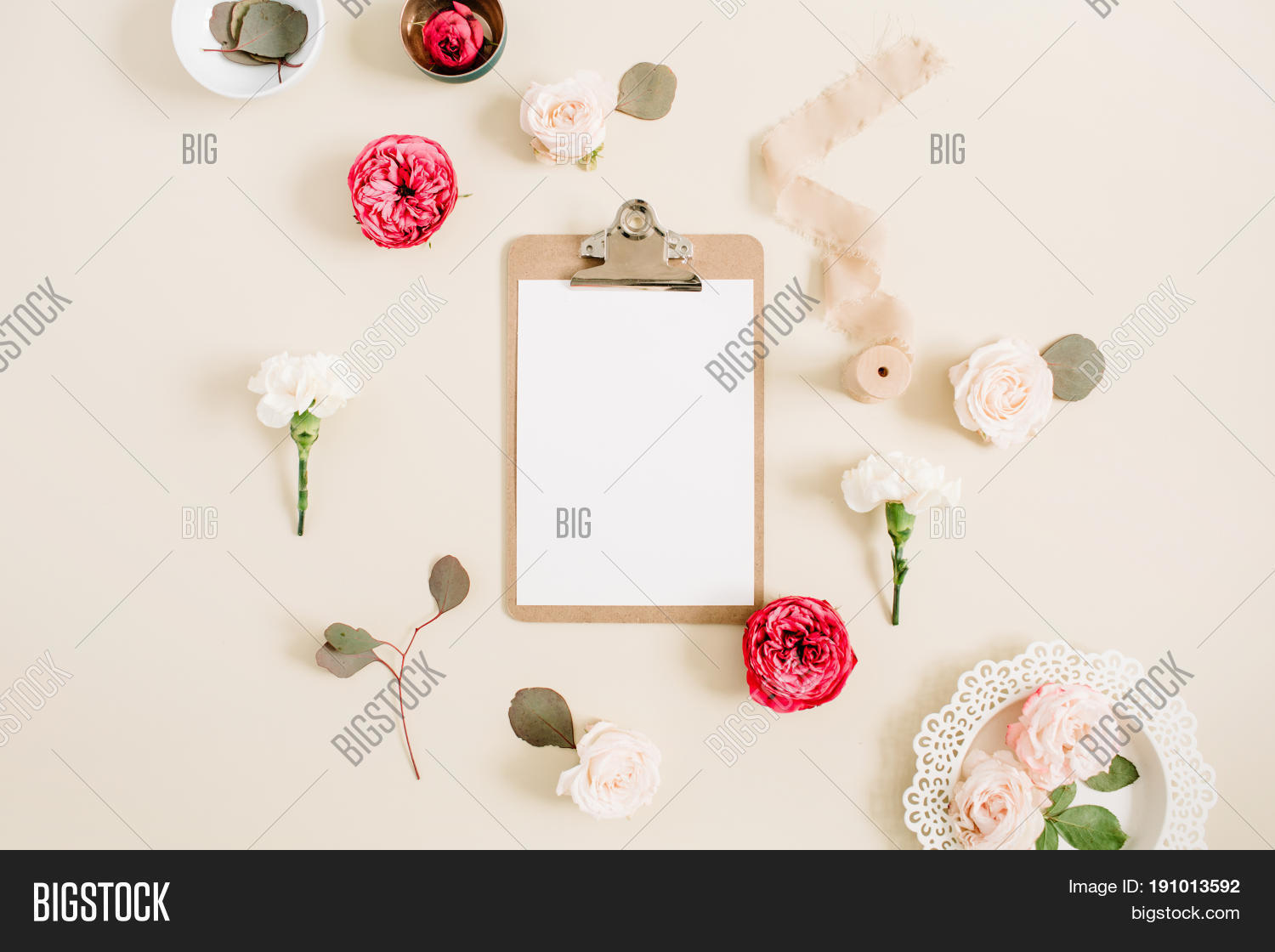 Flat Lay Floral Frame Image & Photo (Free Trial) | Bigstock