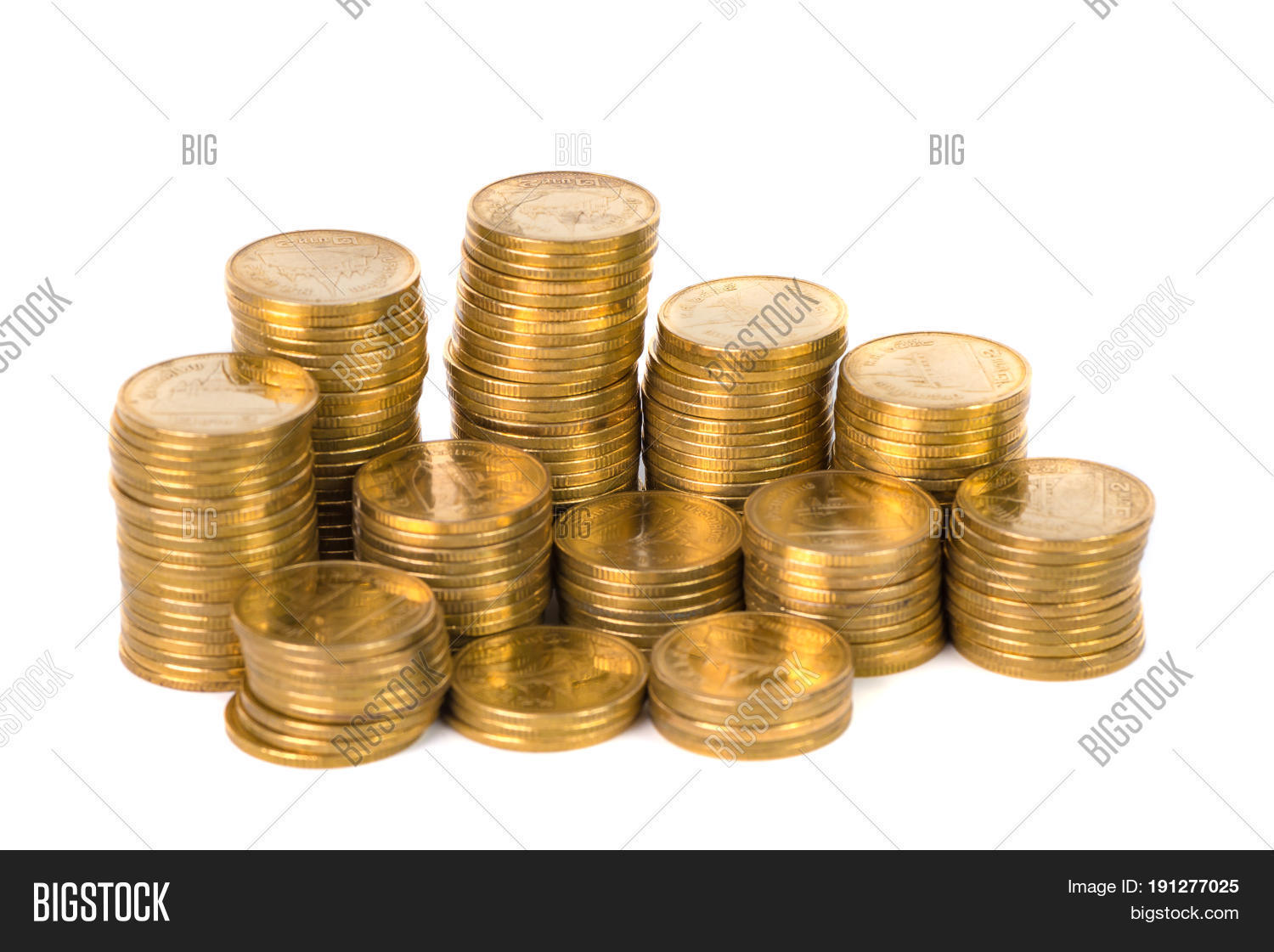 Columns Gold Coins Image Photo Free Trial Bigstock