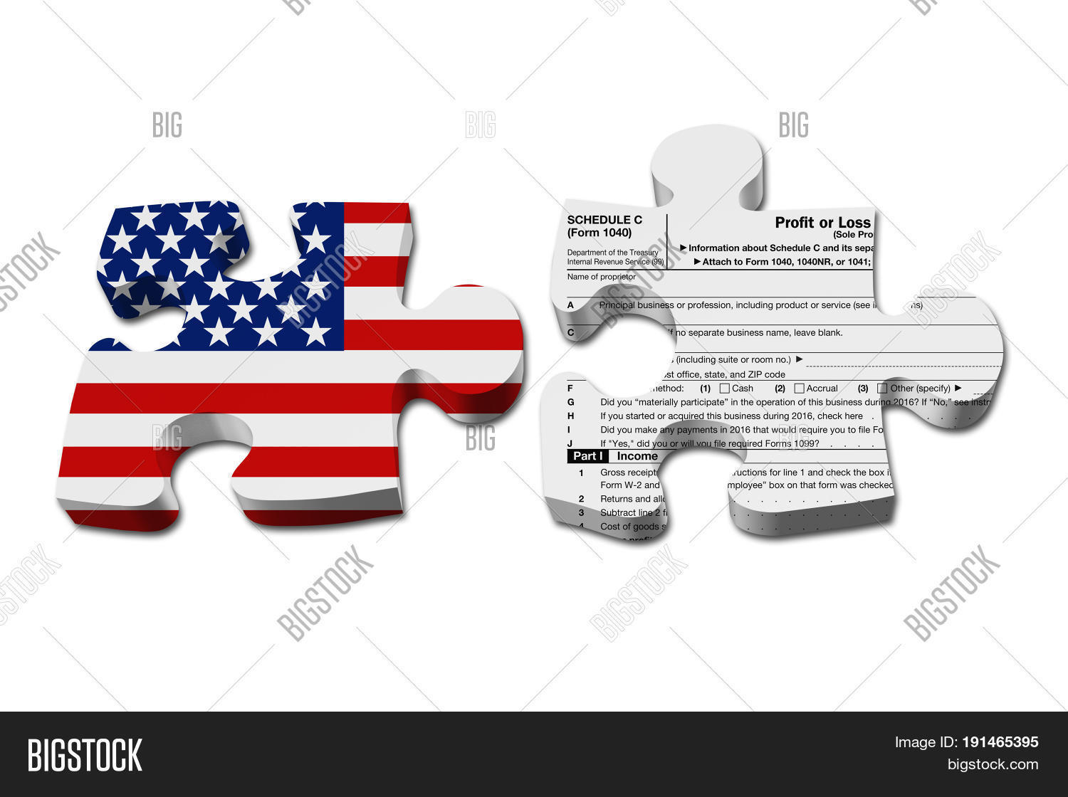 Understanding how do your business image photo bigstock understanding how to do your business taxes two puzzle pieces with the flag of the usa falaconquin