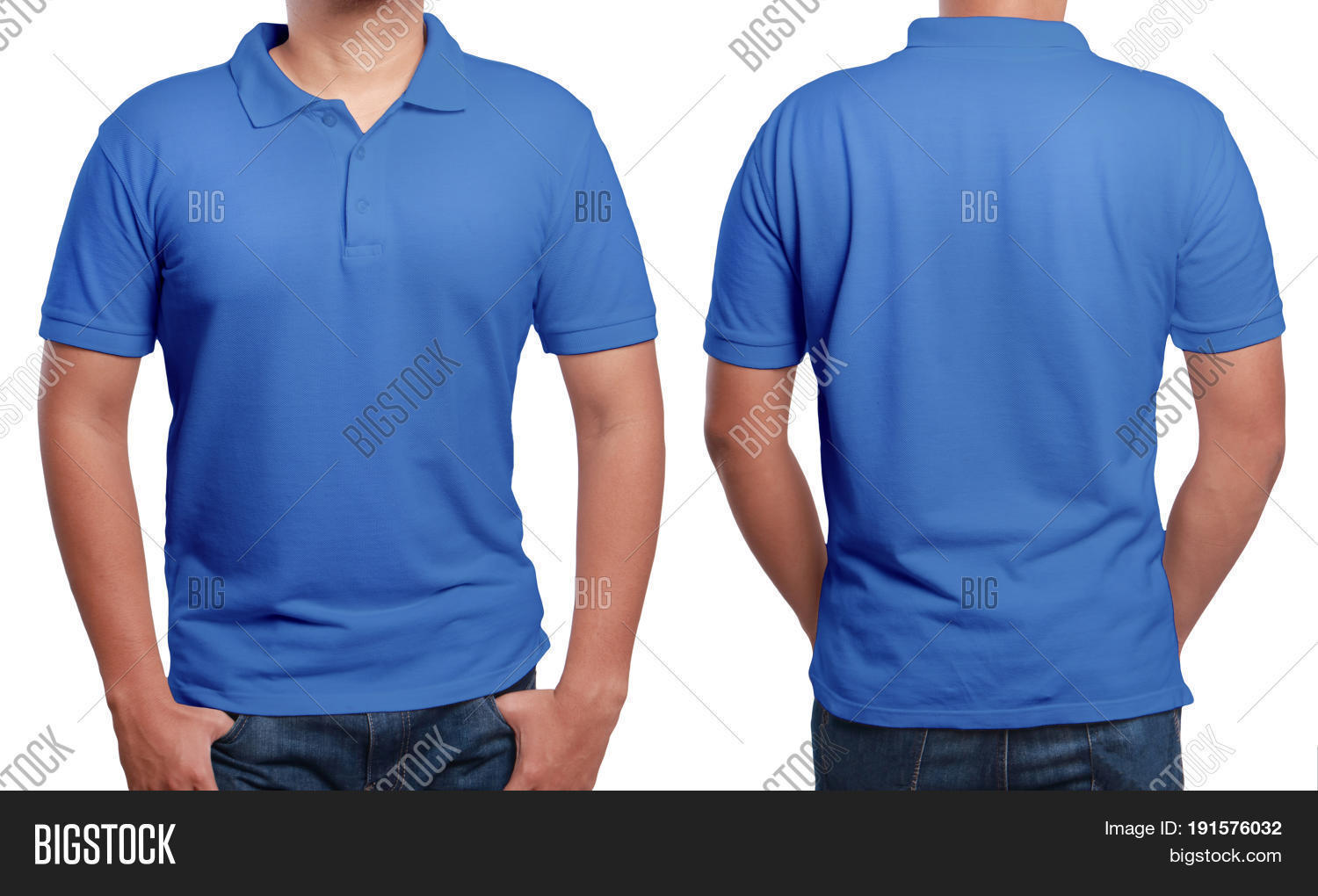 Blue polo t shirt mock image photo free trial bigstock for T shirt mockup front and back
