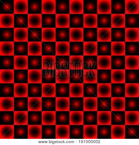 Black and red chessboard , abstract geometric background
