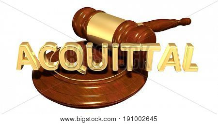 Acquittal Law Concept 3D Illustration