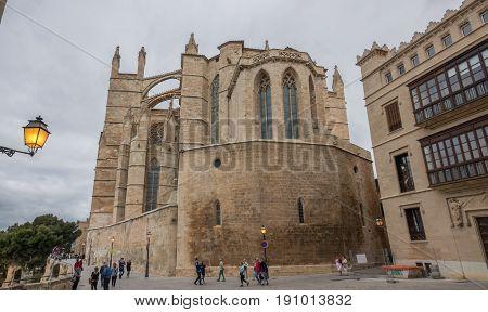 Cathedral Basilica Santa Maria of Palma de Mallorca La Seu Spain