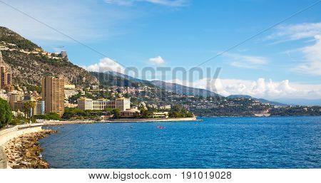 Monaco, Monte Carlo - September 17, 2016: Monaco bay view